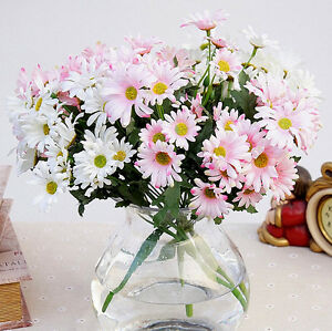 Image Is Loading 21 Heads Artificial Silk Gold Daisy Flower Bouquet