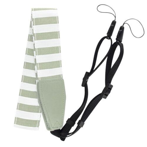 Smokey White Striped Camera Strap For The Fuji Instax Mini 9 Neck Shoulder