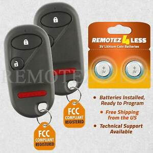 2-For-2001-2002-2003-2004-2005-Honda-Civic-Remote-Car-Keyless-Entry-Key-Fob