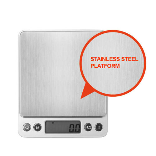 3kg//0.1g 0.01-500g Kitchen Food Scale Digital LCD Electronic Weight Postal New