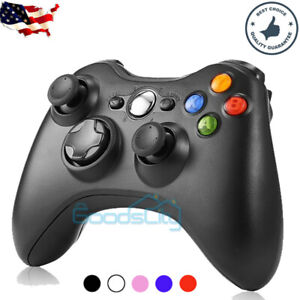 Wireless Game Controller Gamepad for Microsoft XBOX 360 & PC WIN 7 8 10 PS3 BLK