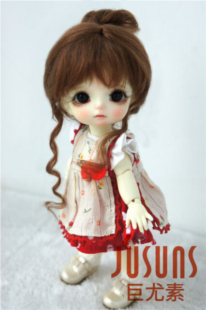 """1 pcs 5-6"""" Silicon Wig Cap for MSD 1//8 Bjd Doll Head Protection Cover"""