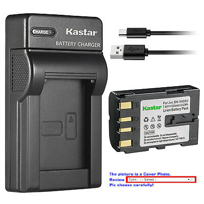 GR-DV800U Smart Slim Micro USB Battery Charger for JVC GR-DV500U GR-DV3000U MiniDV Camcorder GR-DV2000U