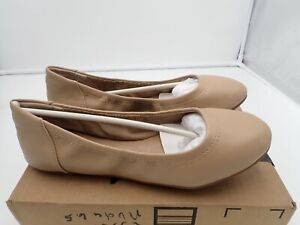 Ballet Flat, Nude, 6.5 B