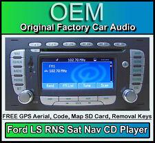 FORD FOCUS SAT NAV CD Player, FORD LS RNS AUTO RADIO STEREO + CODICE & Mappa SD CARD