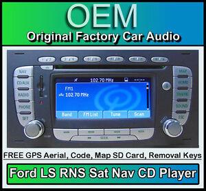 ford transit sat nav cd player ford ls rns car stereo radio code map sd card ebay. Black Bedroom Furniture Sets. Home Design Ideas