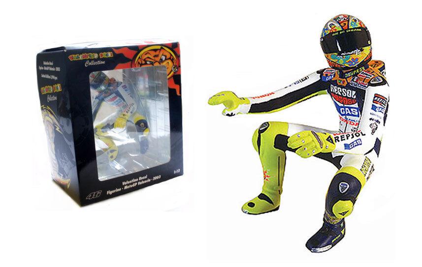 MINICHAMPS HONDA VALENCIA MOTOGP 2003 Riding  Figure-Valentino Rossi, échelle 1 12  dégagement jusqu'à 70%