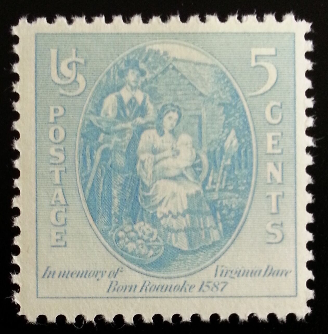 1937 5c Virginia Dare, First Child to English Parents S