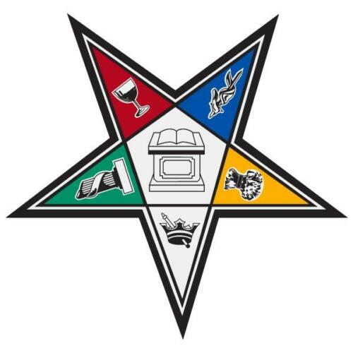 """Order of the Eastern Star Medium Reflective Decal Sticker 3/"""" Tall /& Wide"""