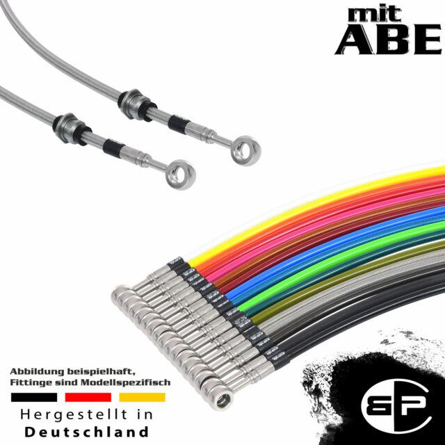 hinten FLSTF F Stahlflex Bremsleitung schwarz für Harley Softail Fat Boy 00-06