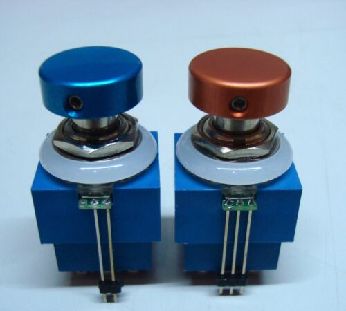 3PDT Foot Switch with PCB LED Ring Colour Options for LED+Cap PCB Included