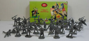 SOLPA-GREEK-VTG-70-039-s-KNIGHTS-amp-CRUSADERS-TOY-SOLDIERS-LOT-BOXED-MADE-IN-GREECE