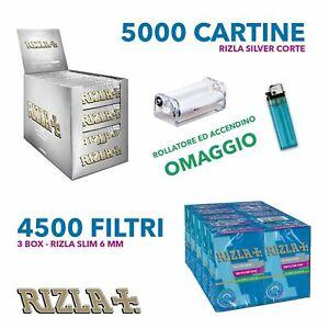 5000-cartine-Rizla-silver-corte-e-4500-Filtri-Rizla-SLIM-6-mm-OMAGGIO