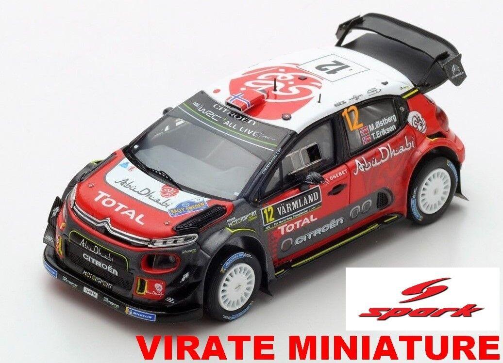 promociones de equipo CITROEN C3 WRC 6° RALLYE DE DE DE SUEDE 2018 MADS OSTBERG SPARK AU 1 43  lo último