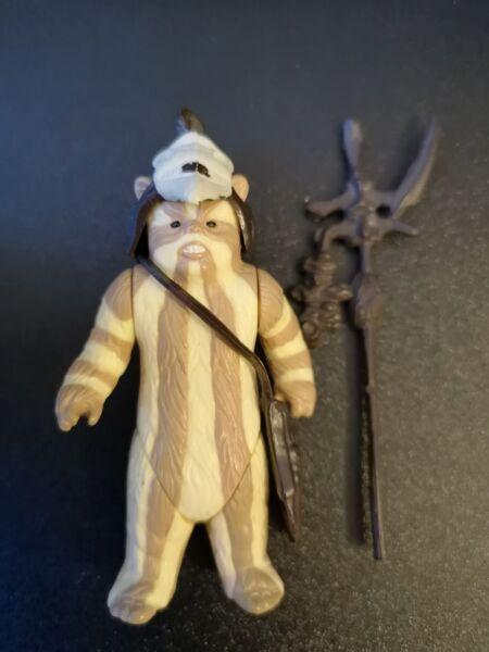 Rapimento Star Wars Logray Ewok Con Arma 1983 Completo 100% Originale Vintage Coo Rotj Ricco Di Splendore Poetico E Pittorico