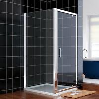 860x700mm Pivot Shower Enclosure Cubicle Hinge Screen Door Side Panel Free Del
