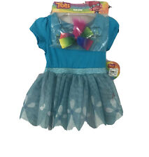 Pink and Blue Trolls Poppy Toddler Girls/' Costume Dress with Hood and Fur Hair