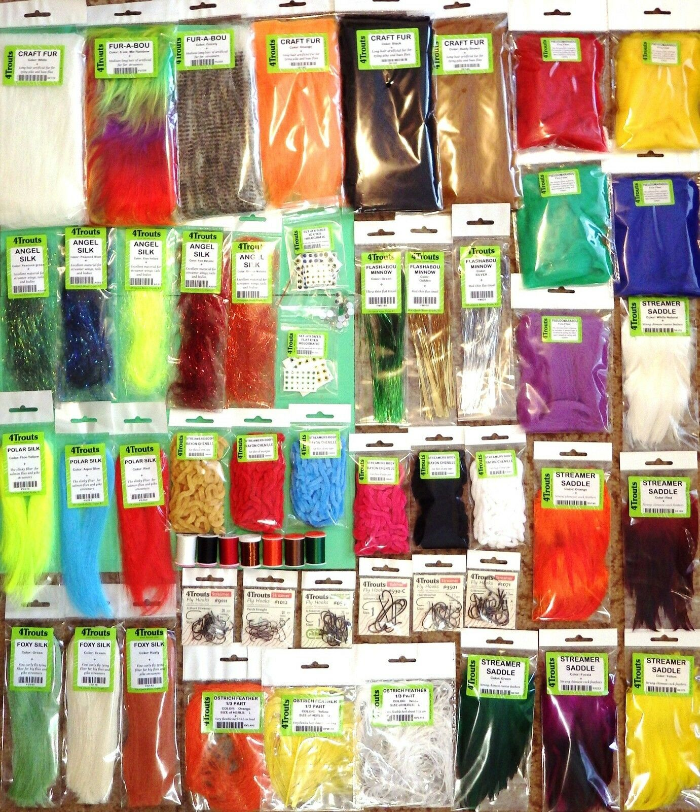 STREAMERS FLY TYING HUGE KIT Set of Fly tying streamers materials for beginners