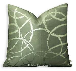 Zinc-Century-Luxury-Designer-Silk-Contempary-Grey-Silver-Cushion-Pillow-Cover