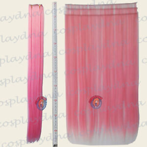 Light-pink-Hair-Weft-Extention-3-pieces-40-034-High-Temp-Cosplay-DNA-Wig-8LLP