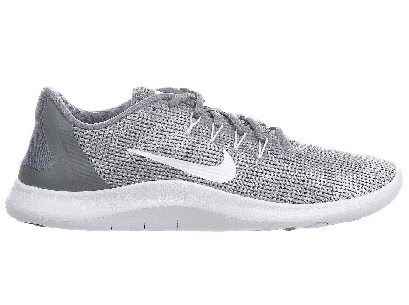 c78ee41aa6548 Nike Flex 2018 RN Mens Aa7397-010 Cool Grey White Knit Running Shoes Size 12