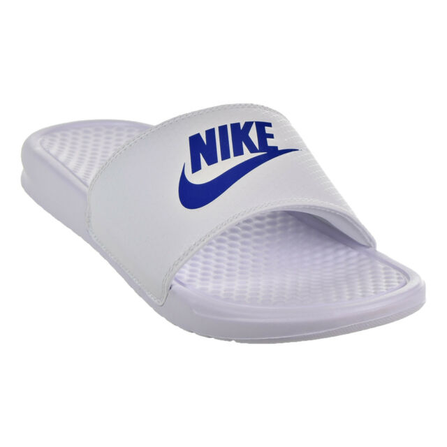 7693fc976 Nike Benassi JDI Men s Sandals White Varsity Royal White 343880-102