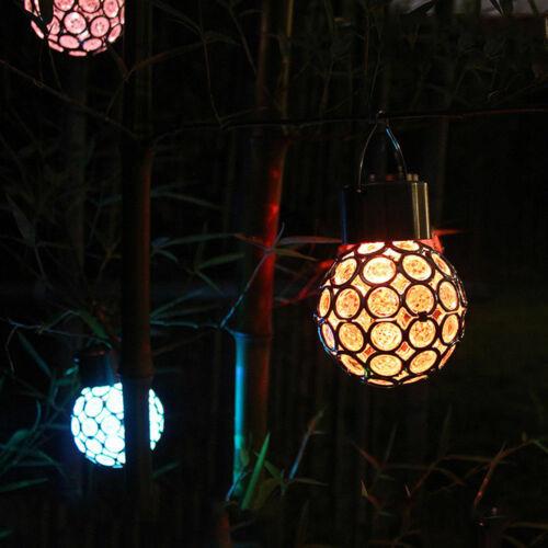 LED Solar Hängeleuchte Glas-Kugel Leuchte Solar Lampe Solarkugel Balkon Garten