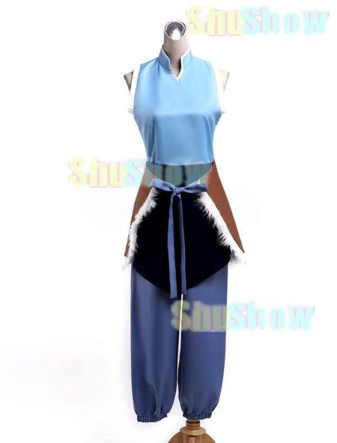 Avatar Korra Halloween Cosplay Costume Apron Top Armwear Bloomers Japanese anime