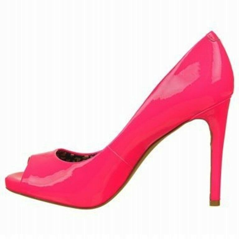 Para mujeres Zapatos Jessica Simpson Simpson Simpson Saras Peeptoe Bombas Tacones patente Fluorescente rosado  ofreciendo 100%