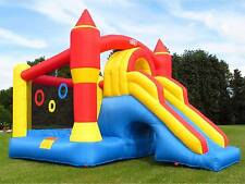 BeBop Ultimate Combo Large Kids Garden Bouncy Castle and Slide