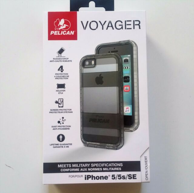 purchase cheap 4d3d3 e772d Pelican Voyager Case Holster Screen iPhone 5 5s SE Clear / Gray OEM