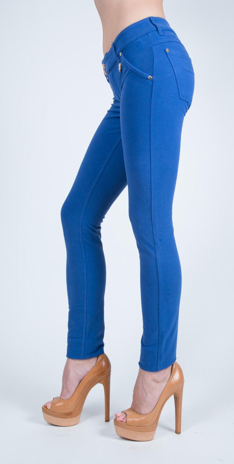 MET in Jeans K-FIT J bluee Stretch Pants Slim fit plush trousers low-waist