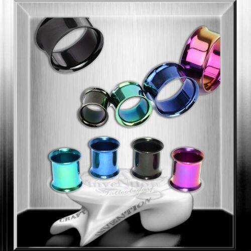 calidad piercing High Shine bollos túnel Titan plateada colores /& tamaños