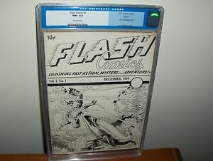 FLASH COMICS #1 ASHCAN EDITION CGC 9.6 1939