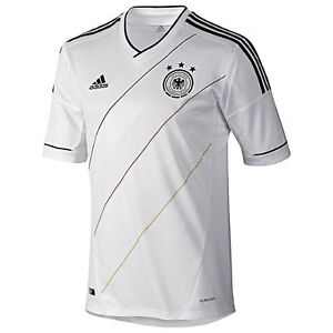 adidas Germany Euro 2012 Home Soccer Jersey Brand New White Kids ...