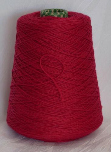 Vermeille doux croisé 25 €//Kg 100/% Fine Mérinos Rouge Laine Pour Tricoter LL 165 m