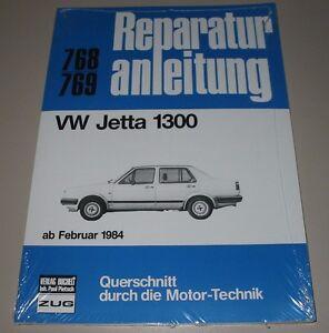 Reparaturanleitung-VW-Jetta-1300-Typ-II-16E-19E-ab-Baujahr-Februar-1984-NEU