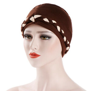 dd453333f4e Women Ladies Flower Hijab Cancer Chemo Cap Hair Loss Head Scarf ...