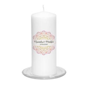 Hochzeitskerze-Mandala-inkl-Personalisierung-Hochzeit-Traukerze-Vintage-Trauung