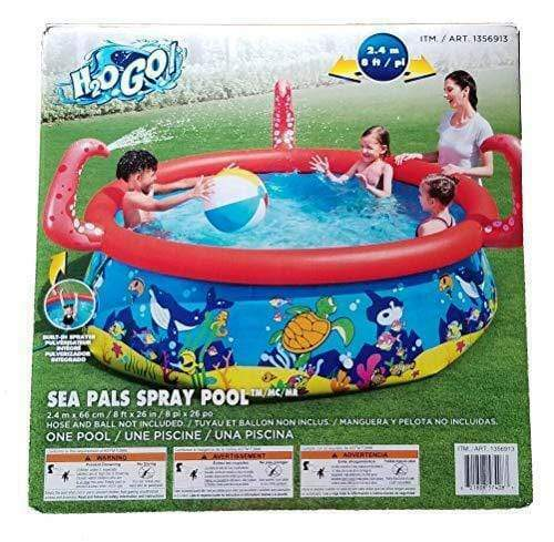 Bestway H2O Go! Sea Pals Inflatable Pool With Built-In Sprayer - 8 Ft Round