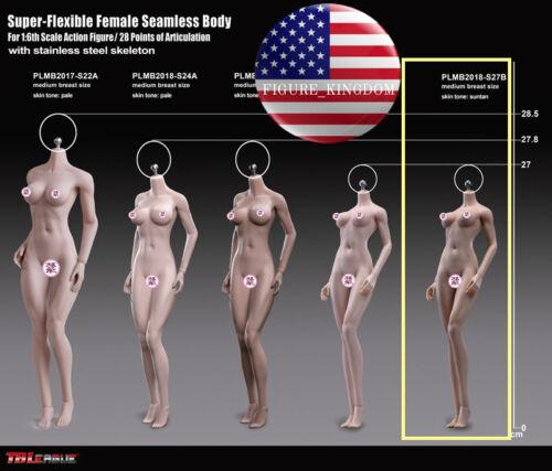 NEW GIRL TYPE PHICEN S27B 1//6 Seamless SHORTER Figure BODY SUNTAN M Bust 10.6/'/'