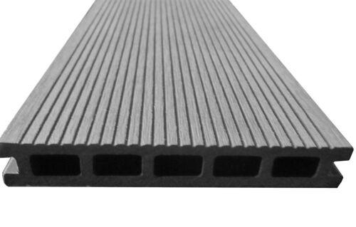 50 m² BPC Terrassendielen 5,00 m Grau Komplettbausatz Komplett Dielen Holz WPC