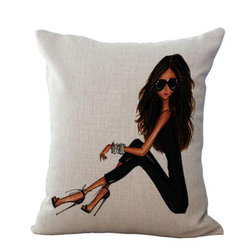 Fashion Beauty Pillow Case Cotton Linen Sofa Pillowcase Cushion Home Decoration