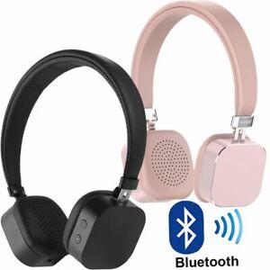 ikanoo wireless bluetooth kopfh rer deepbass headset headphones mic f r handy pc ebay. Black Bedroom Furniture Sets. Home Design Ideas