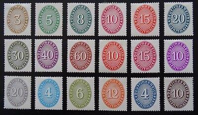 Deutsches Reich Dienst Mi 114-131 * , Ziffer Im Oval