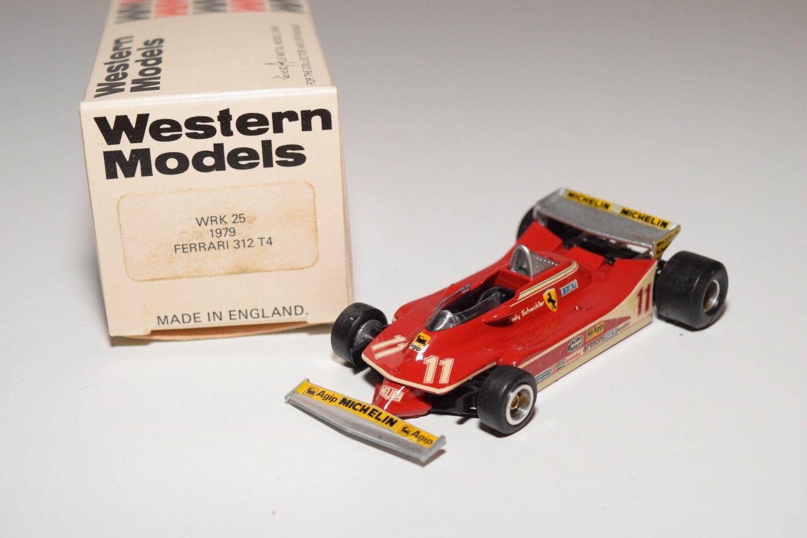 I WESTERN MODELS WM WRK25 1979 FERRARI 312 T4 F1 RACING CAR MINT BOXED