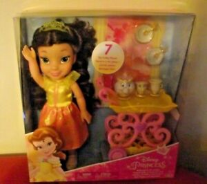 Disney-Princess-Belle-Doll-amp-Tea-Trolley-Tea-Set-My-First-Disney-Princess-Doll