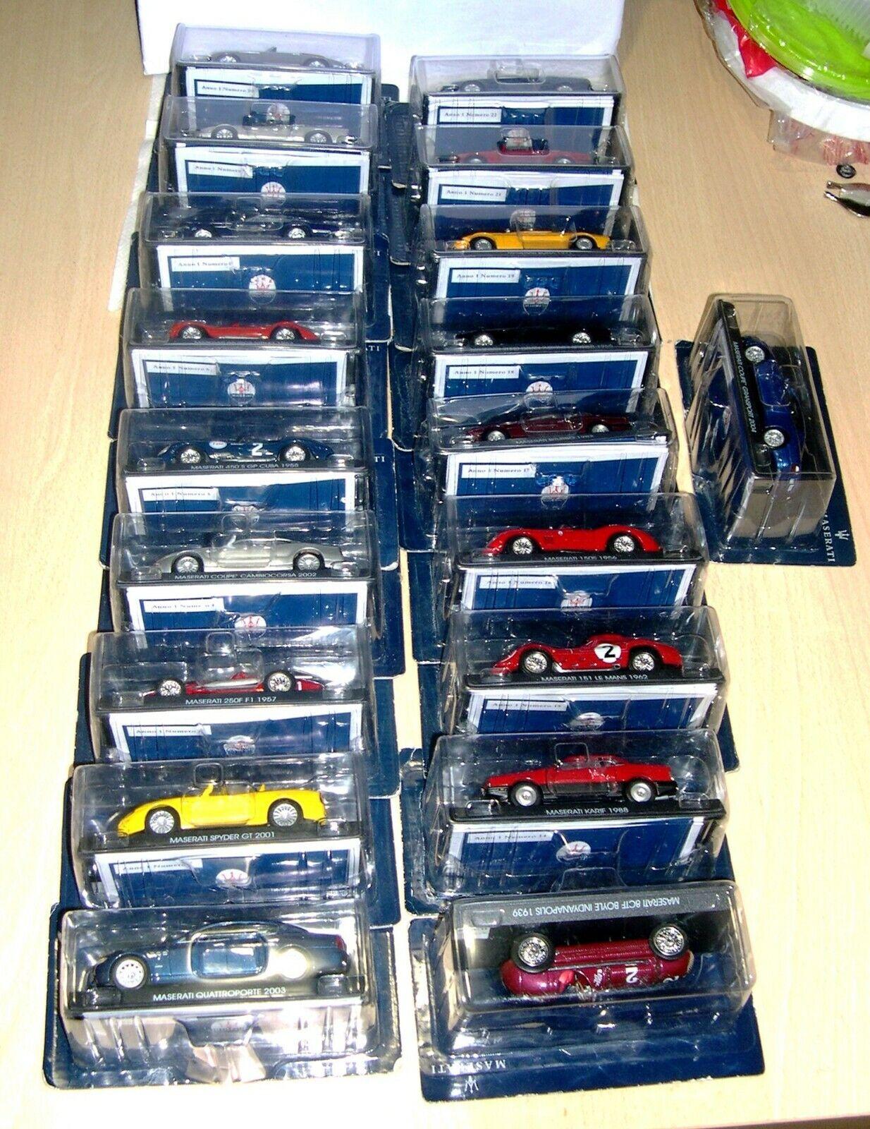 La  Maserati collection  anno 1 2004 19 cars . MIB  OFFERTISSIMA
