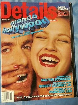 DETAILS February 1997 Tim Roth Drew Barrymore Martin Scorsese Robert Downey Jr