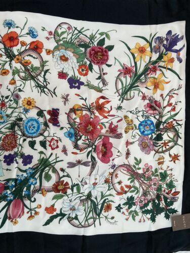 Vintage Floral Gucci Blanco/Negro ORIGINAL 100% SE